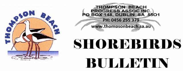 Shorerbirds Bulletin