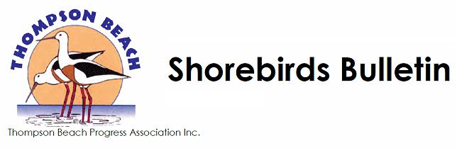 Thompson Beach Shorebirds Bulletin