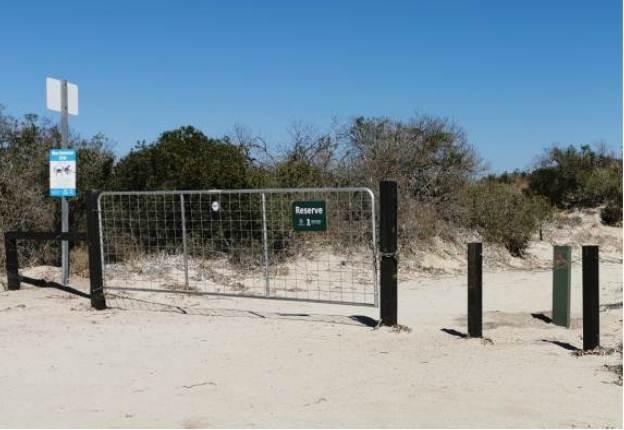 Northern beach ramp gate